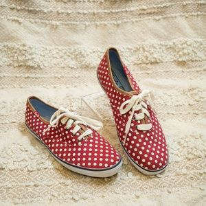 NWOT Keds red polka dot sneakers/skimmers